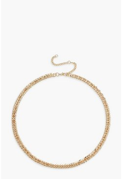 Gold metallic Linked Chunky Chain Necklace