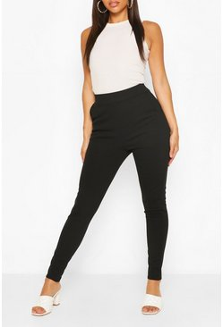 Black Pastel Pocket Detail Casual Skinny Trousers
