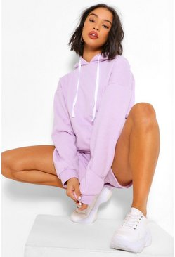 Lilac OVERSIZED HOODY AND SHORT SET