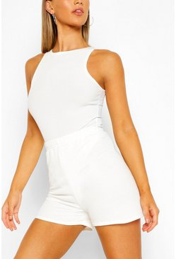Ivory white Jersey Sweat Short