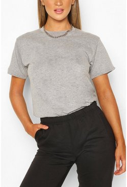 Grey Basic Oversized t-shirt