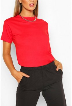 Red Basic Oversized t-shirt