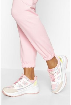 Pink Chunky Lace Up Trainer