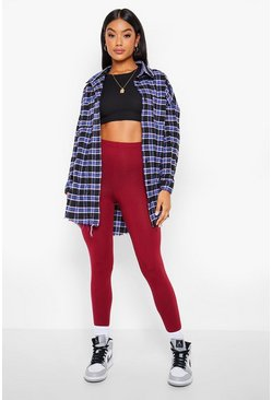 Berry Basic High Waist Leggings