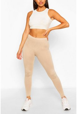 Stone beige Basic High Waist Legging