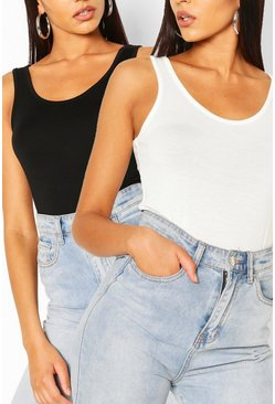 Blackwhite black Two Pack Basic Vest