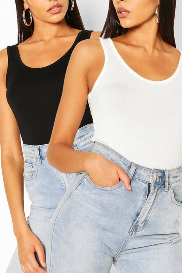 Blackwhite black Two Pack Basic Vest