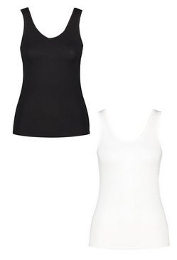 Blackwhite Two Pack Basic Vest