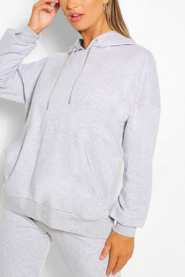 Grey marl Supersoft Oversized Hoody