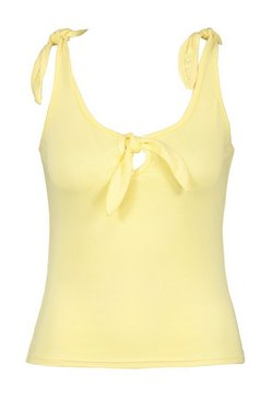 Lemon Tie Shoulder And Front Vest