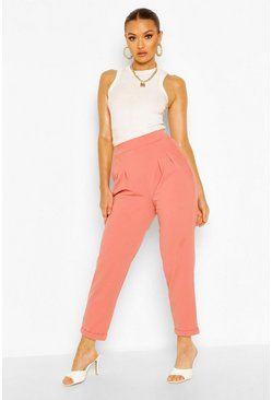 Dusky pink Tailored Tapered Trouser