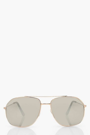 Gold metallic Tinted Aviator Sunglasses