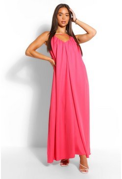 Coral pink Detail Cut Out Strappy Maxi Dress