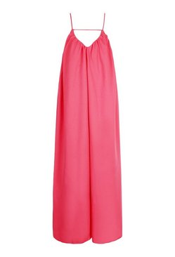 Coral Detail Cut Out Strappy Maxi Dress