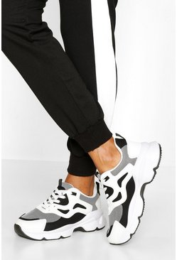 Black Chunky Mesh Panel Trainer