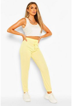 Lemon yellow Easy Ribbed Jogger