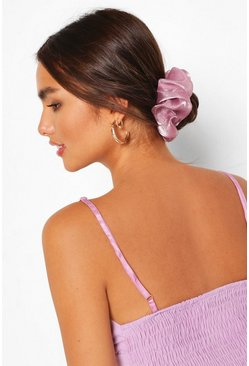 Lilac Satin Super Soft Hair Protect Scrunchie