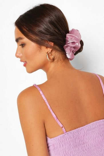 Lilac purple Satin Super Soft Hair Protect Scrunchie