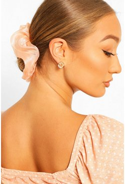 Peach Satin Super Soft Hair Protect Scrunchie