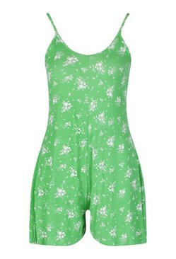 Emerald Ditsy Floral Cami Swing Playsuit