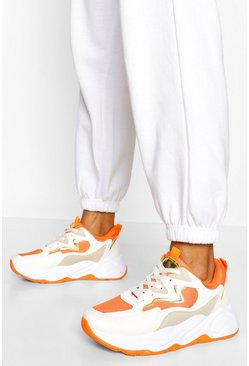 Orange Chunky Colour Block Trainer