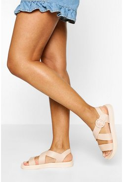 Nude Chunky Footbed Sandals