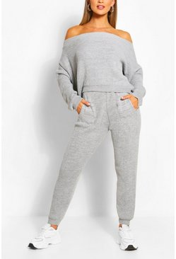 Grey Marl Knitted Lounge Set
