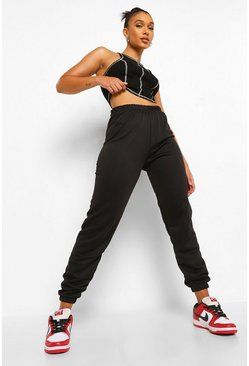 Black High Waist Casual Jogger