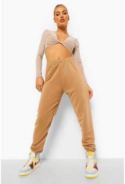 Basic Jogginghose Regular Fit, Kamelhaarfarben beige