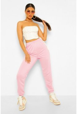 Dusky pink Basic Regular Fit Joggers