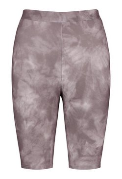 Grey Tie Dye Cycling Shorts