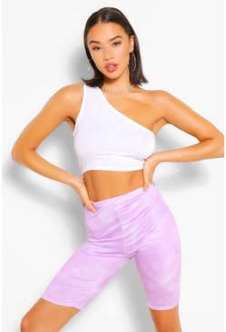 Lilac Tie Dye Cycling Shorts
