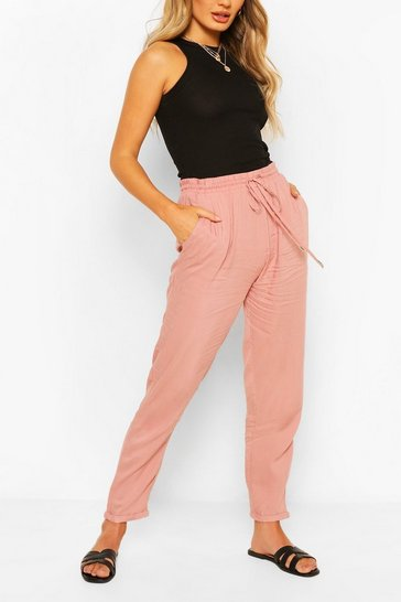 Blush pink Nude Relaxed Fit Casual Jogger