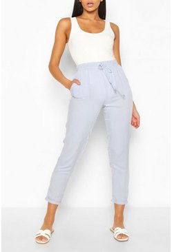 Light blue blue Relaxed Fit Casual Jogger