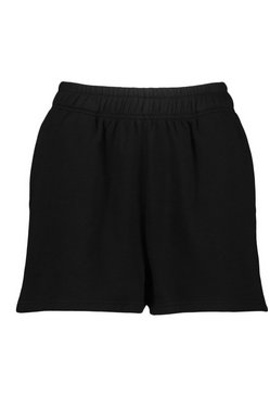 Black Pocket Detail Sweat Shorts