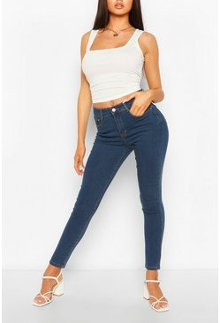 Mid blue High Waist Super Stretch Skinny Jeans