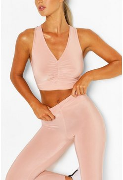 Blush pink Ruch Front Sports Set