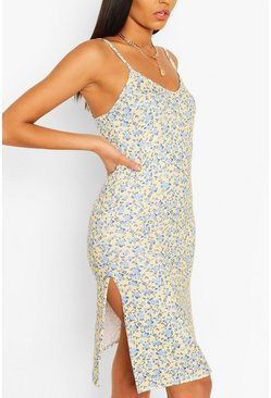 Yellow Ditsy Floral Slip Dress