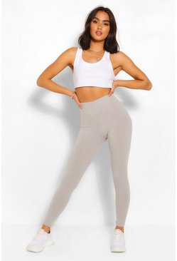 Jumbo Rib Deep Waist Leggings