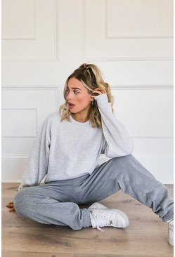 Grey Basic Oversized Sweatshirt
