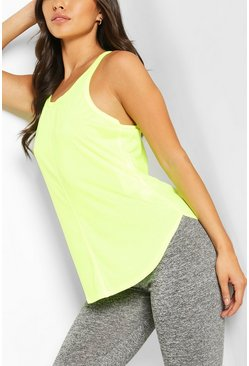 Basic Sport Tank Top, Gelb