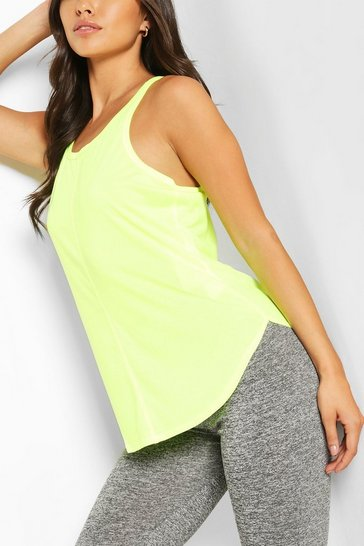 Yellow Basic Gym Vest