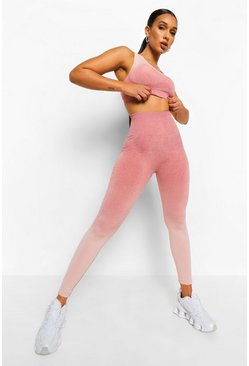 Blush Ombre Sports Leggings