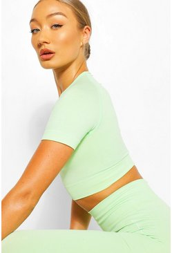 Neon-green neon Seamless Gym Crop Top