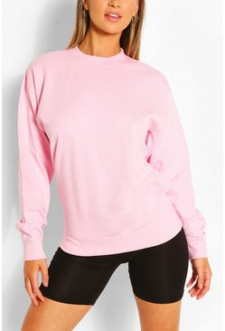 Sweat coupe oversize recyclé, Pink rose