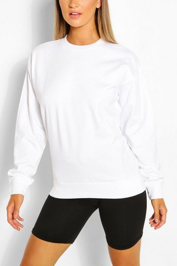 White Oversized Sweatshirt