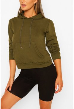 Khaki Pocket Detail Hoody