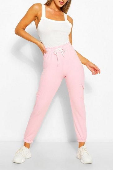 Pale pink pink Pink Basic Cargo Joggers