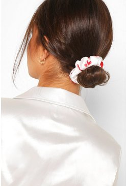 Satin Super Soft Hair Protect Scrunchie, White