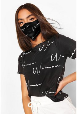 Black Woman Fashion Face Mask